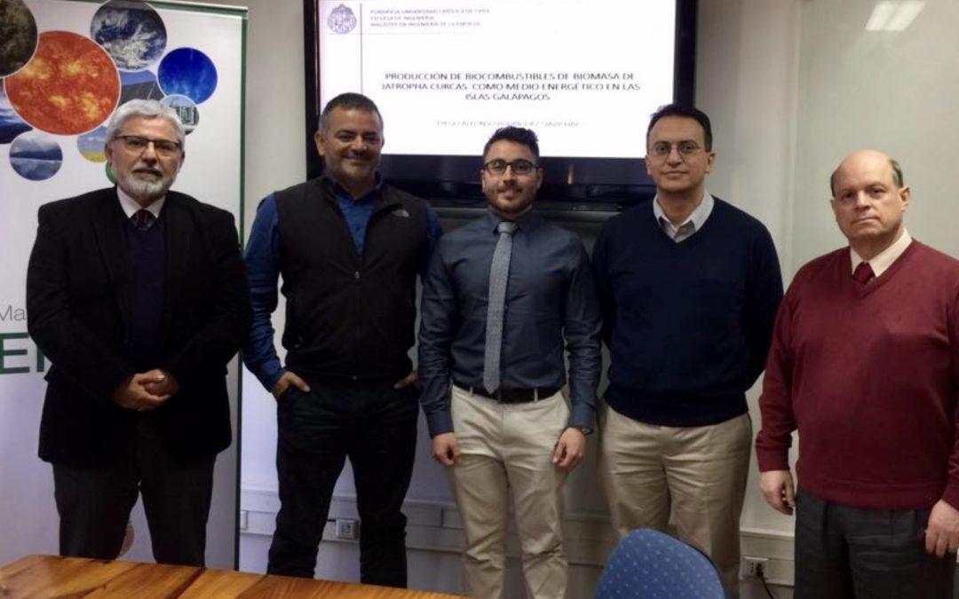 Diego Rodríguez Siavichay (de ECUADOR) se convirtió en un nuevo graduado del Magíster en Ingeniería de la Energía.