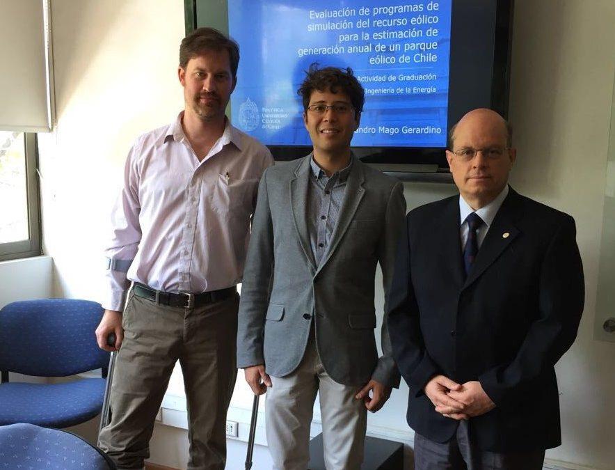 Víctor Alejandro Mago Gerardino (Venezuela); se convirtió hoy en un nuevo graduado del Magíster en Ingeniería de la Energía MIE UC