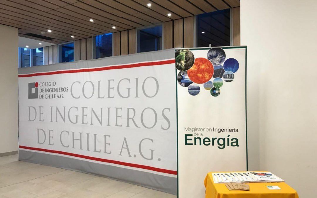 El Magíster en Ingeniería de la Energía, presente en el Mes de la Energía del Colegio de Ingenieros de Chile.